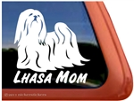 Lhasa Apso Mom Dog Car Truck RV Window Decal Sticker