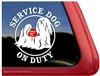 Lhasa Apso Service Dog Dog Car Truck RV Window Decal Sticker