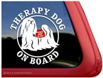Lhasa Apso Therapy Dog Dog Car Truck RV Window Decal Sticker