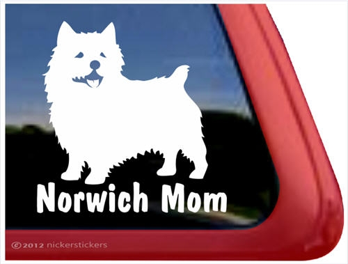 Norwich terrier window decal larger photo email a friend