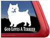 Got Loves a Terrier Norwich Terrier Dog iPad Car Truck RV Window Decal Sticker