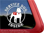 Pit Bull Terrier Service Dog Car Truck iPad RV Window Decal Sticker