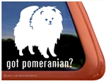 Pomeranian Window Decal