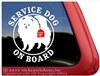 Pomeranian Service Dog iPad Car Truck RV Window Decal Sticker
