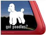 Got Poodles? Dog iPad Car Truck Window Decal Sticker