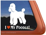 Love My Standard Poodle Dog iPad Car Truck Window Decal Sticker