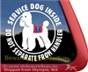 Poodle Service Dog on Board Car Truck RV iPad Window Decal Sticker