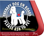 Therapy Poodle Dog Window Decal