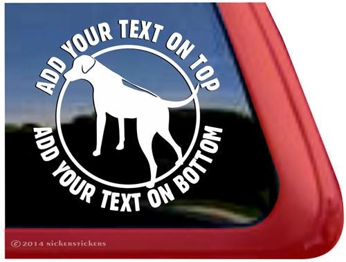 Custom round rhodesian ridgeback dog ipad car truck rv window decal sticker larger photo email a friend