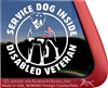 Rottweiler Service Dog Disabled Veteran Car Truck RV Window Decal Sticker