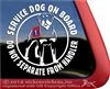 Rottweiler Service Dog on Board Car Truck RV Window Decal Sticker