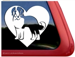 Custom Saint Bernard Heart Dog Car Truck RV Window Decal Stickers