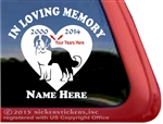 Custom Memorial Saint Bernard Dog Heart Love Head Car Truck RV Window iPad Trailer Decal Sticker