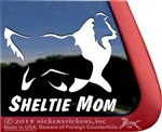 Sheltie Mom Shetland Sheepdog Window Decal Sticker