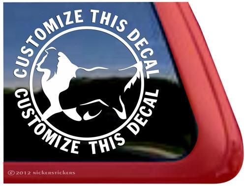 Custom shetland sheepdog sheltie car truck rv window decal sticker larger photo email a friend