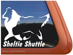 Sheltie Shuttle Shetland Sheepdog Window Decal Sticker