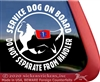 Shetland Sheepdog Service Dog on Board Car Truck RV Window Decal Sticker