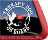 Shetland Sheepdog Therapy Dog on Board Car Truck RV Window Decal Sticker