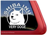 Shiba Inu Wow Very Doge Dog Car Truck RV Window Decal Sticker