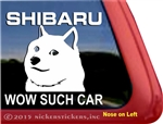 Shiba Inu Shibaru Wow Such Car Dog Car Truck RV Window Decal Sticker