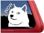 Shiba Inu Wow Dog Car Truck RV Window Decal Sticker