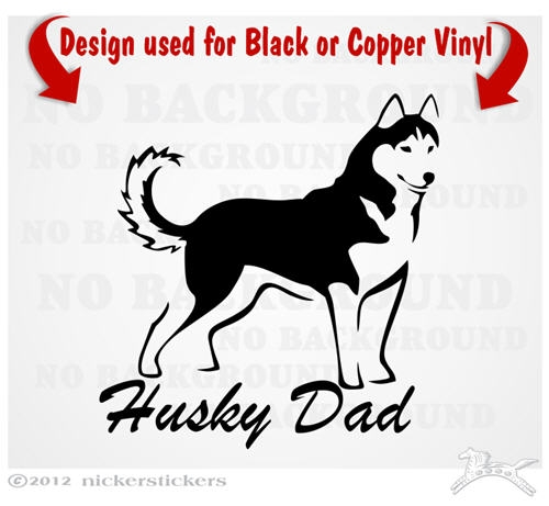 Husky Dad Siberian Husky Dog Decals Stickers Nickerstickers
