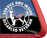 Service Dog Siberian Husky Vinyl Decal Sticker