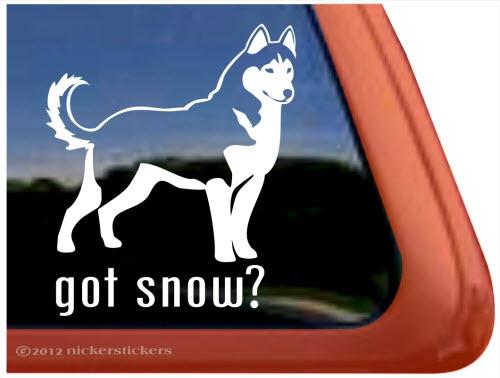 Got Snow Siberian Husky Dog Decals Stickers Nickerstickers