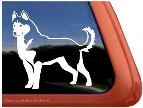 Custom siberian husky dog ipad car truck window decal sticker larger photo email a friend