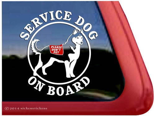 Siberian Husky Service Dog Decals Amp Stickers