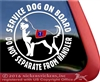 Siberian Husky Service Dog iPad Car Truck Window Decal Sticker
