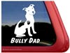 Bully Dad Pit Bull Terrier Dog Car Truck RV Window Decal Sticker