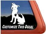 Custom American Pit Bull Terrier Dog Truck Car RV Window Decal Sticker
