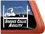 Border Collie Agility Dog Window Decal