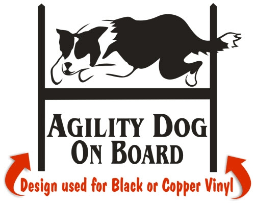 Border Collie Agility Dog Decals & Stickers | NickerStickers