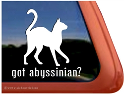 Abyssinian Window Decal