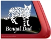 Bengal Dad Cat Car Truck RV Window Decal Sticker