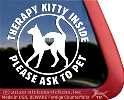 Therapy Kitty Cat  iPad Car Truck Window Decal Sticker