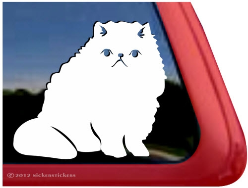 Custom Persian Cat Decals Stickers NickerStickers - Cat custom vinyl decals for car windows