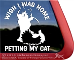 Kitty Cat Tabby  iPad Car Truck Window Decal Sticker