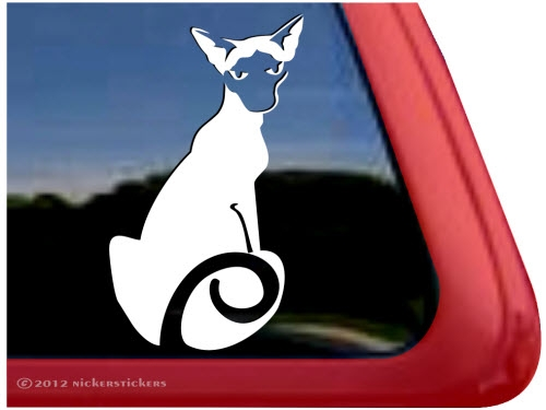 Custom Siamese Cat Decals Stickers NickerStickers - Cat custom vinyl decals for car windows