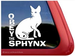 Sphynx Window Decal