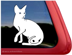 Custom Sphynx Cat Vinyl Car Truck RV Window Decal Sticker