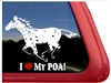 Pony of the Americas Window Decal