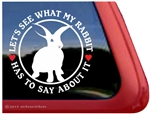 Rabbit Window Decal