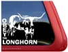 Longhorn Window Decal