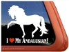 Andalusian Horse Trailer  Window Decal