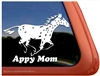 Custom Leopard Appaloosa Vinyl Horse Trailer Car Truck RV Window Decal Sticker