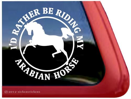Got Arabians?High Quality Vinyl Arabian Horse Window Decal Sticker