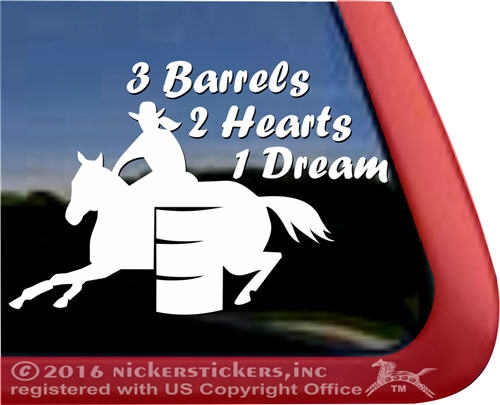 Barrel Racing Decals Amp Stickers 226 Nickerstickers